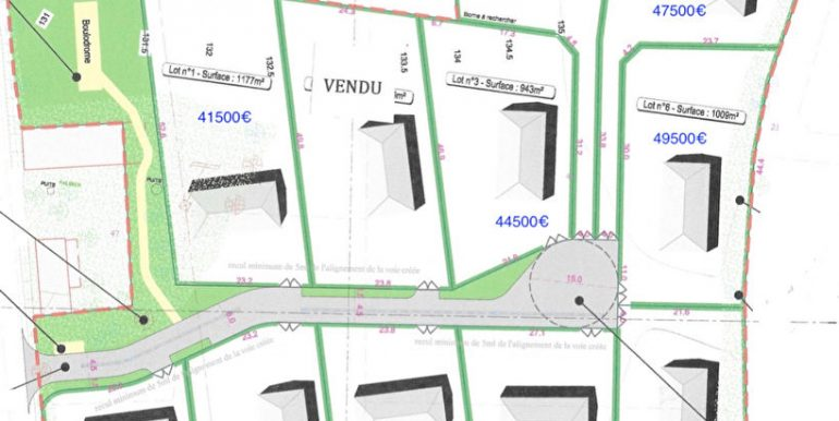 Terrain Caussade 1177 m2A.B.I - Agence Bourdarios Immobilier - A.B.I  Agence Bourdarios Immobilier-3