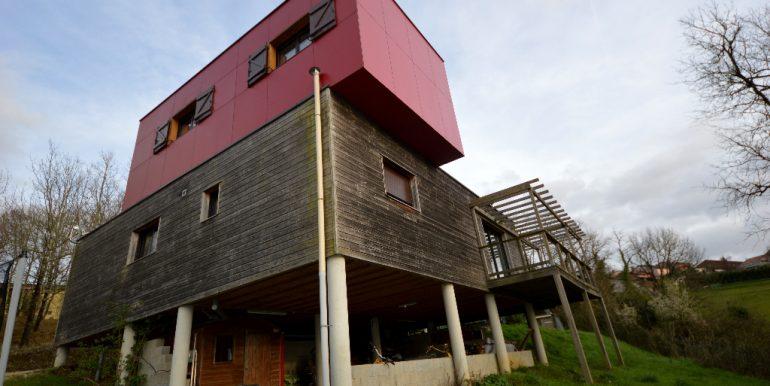 Maison ossature bois sur pilotis avec sa vue panoramique sur  la vallée à 20 mn de MontaubanA.B.I - Agence Bourdarios Immobilier - A.B.I  Agence Bourdarios Immobilier-2