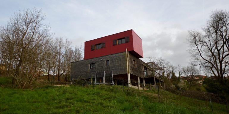 Maison ossature bois sur pilotis avec sa vue panoramique sur  la vallée à 20 mn de MontaubanA.B.I - Agence Bourdarios Immobilier - A.B.I  Agence Bourdarios Immobilier-12