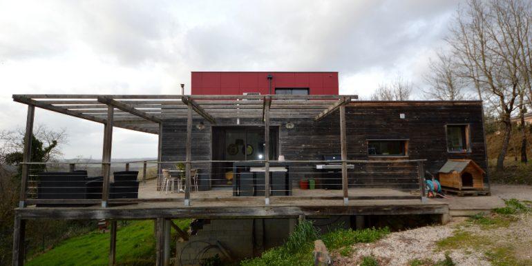 Maison ossature bois sur pilotis avec sa vue panoramique sur  la vallée à 20 mn de MontaubanA.B.I - Agence Bourdarios Immobilier - A.B.I  Agence Bourdarios Immobilier-10